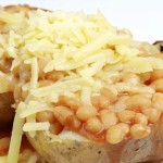 Jacket Potatoe with Cheese & Beans