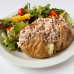 Jacket Potatoe with Tuna mayonnaise & red onion